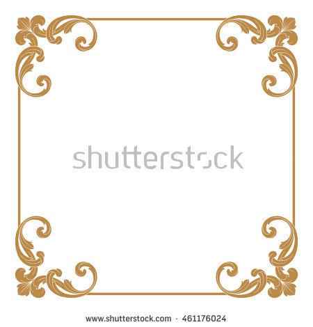450x470 Frame Border Gold Frame Border Vector Vintage Gold Frame Border