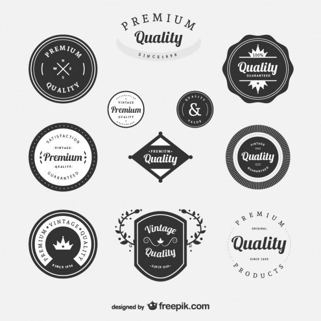626x626 Premium Vintage Labels Set Vector Free Download