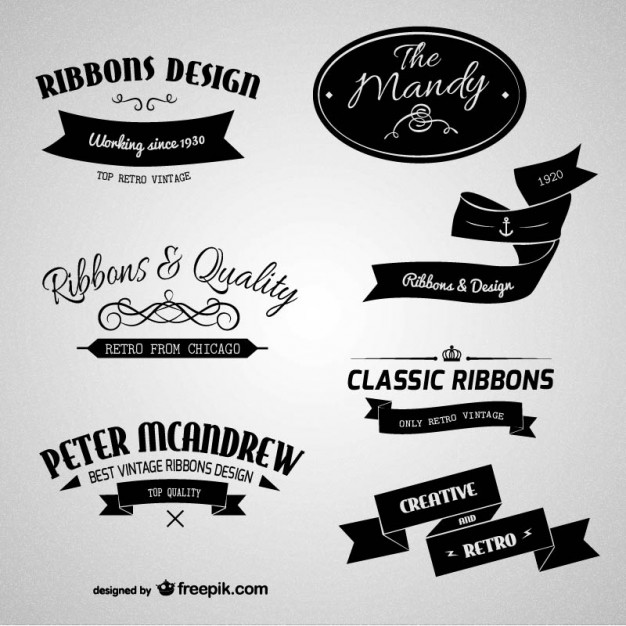 626x626 Retro Branding Labels Vector Free Download