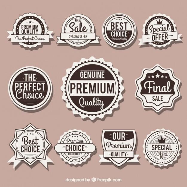 626x626 Set Of Vintage Badges Labels Vector 03 Label Free Download