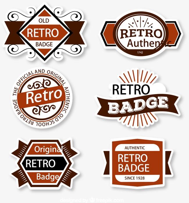 650x699 Vector Retro Fashion Label Design, Retro Vector, Fashion Vector