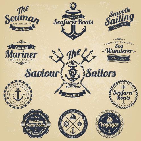 496x496 Vintage Navigation Label Vector 02 Free Download