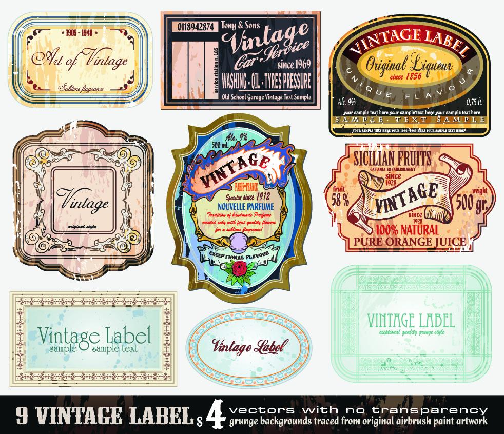 982x846 20 Free Antique Label Vector Images