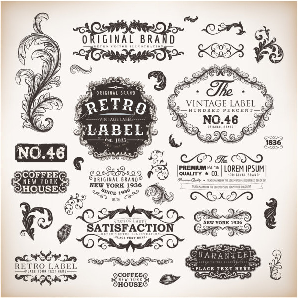 596x596 Vintage Labels And Borders Vector Free Vector In Adobe Illustrator