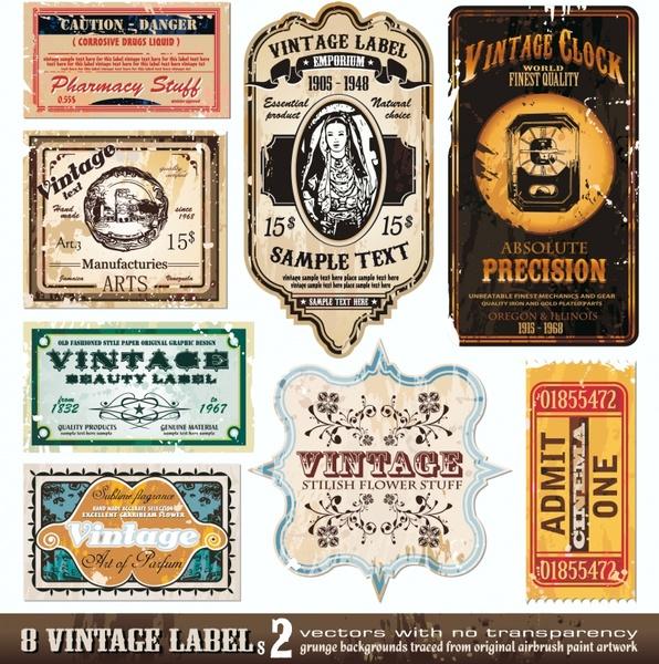 596x600 Vintage Wine Label Vector Free Vector In Encapsulated Postscript
