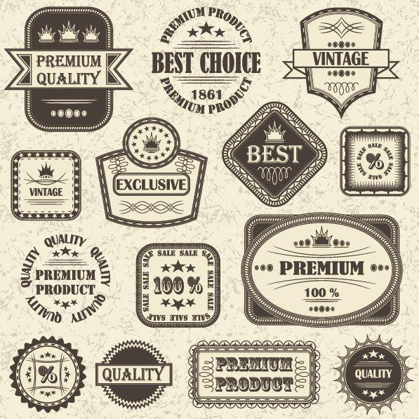 597x597 Retro Labels Retro Sticker Label Vector 7 Vectors Free