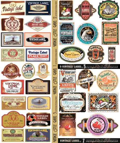 463x550 European Vintage Labels Vector Misc Free Vector Free Download