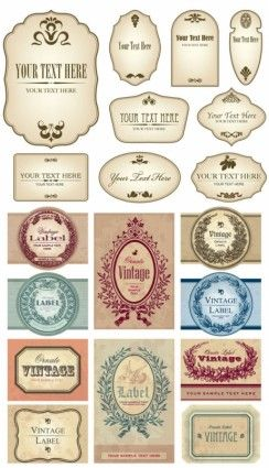 244x425 European Label Vector Free Download Coffeehouse In 2018