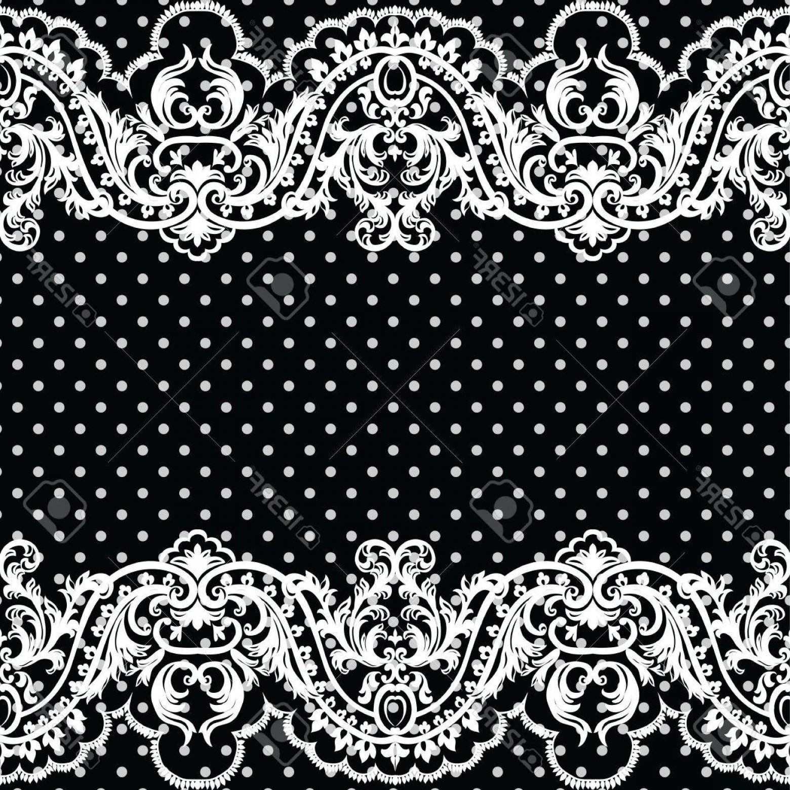 1560x1560 Photostock Vector White Vintage Lace Crochet Pattern Damask