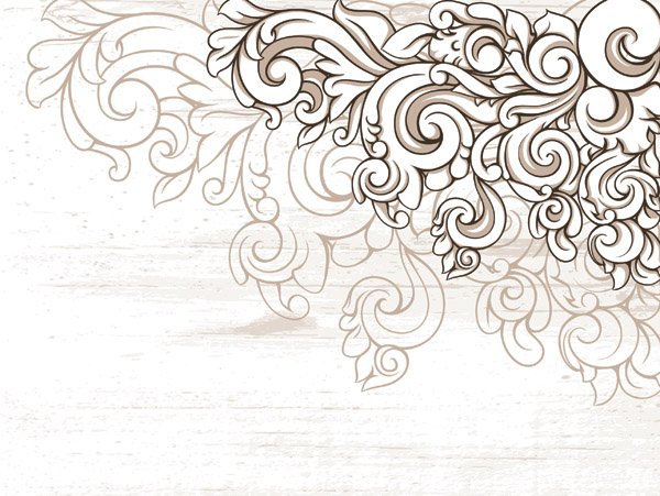 600x451 Scene When Europeanstyle Lace Border Pattern Vector 2 Free Vector