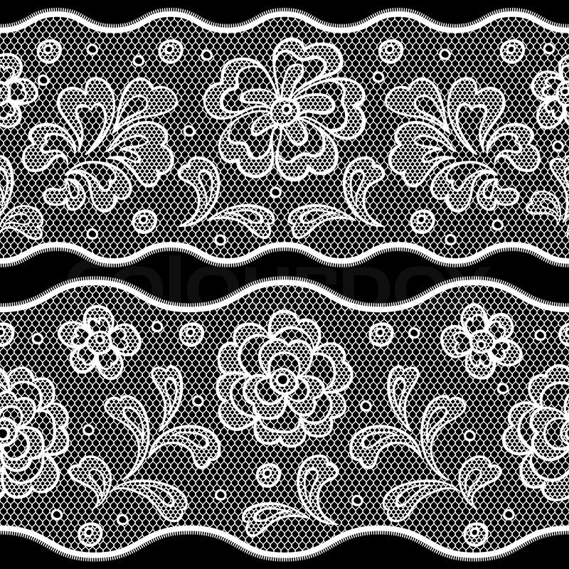 800x800 Seamless Lace Pattern, Flower Vintage Vector Background. Stock