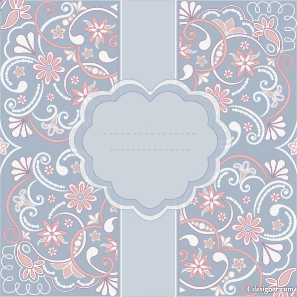 600x600 4 Designer Fashion Lace Pattern Vector Material 01