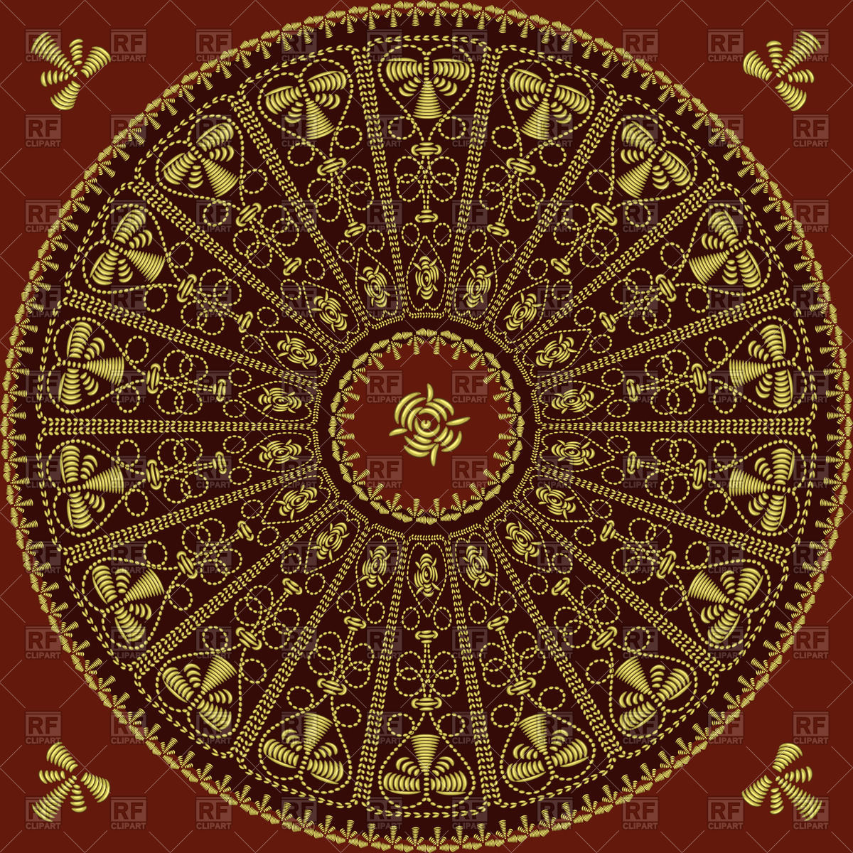 1200x1200 Traditional Round Vintage Lace Pattern