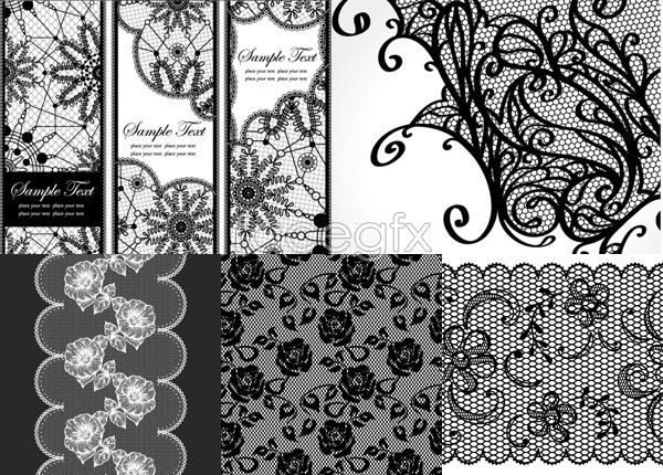 600x430 Types Of Vintage Lace The Lace Pattern Background Vector Is A