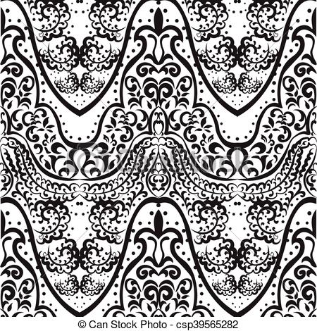 450x470 Vector Vintage Lace Ornament Pattern Indian Style. Ornate Element