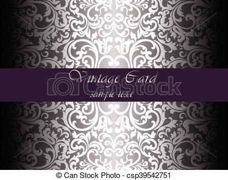 450x357 Vintage Lace Ornament Pattern On Shinny Background. White Color