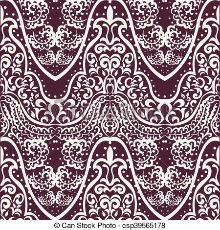450x470 Vintage Lace Ornament Pattern. Vector Vintage Lace Ornament