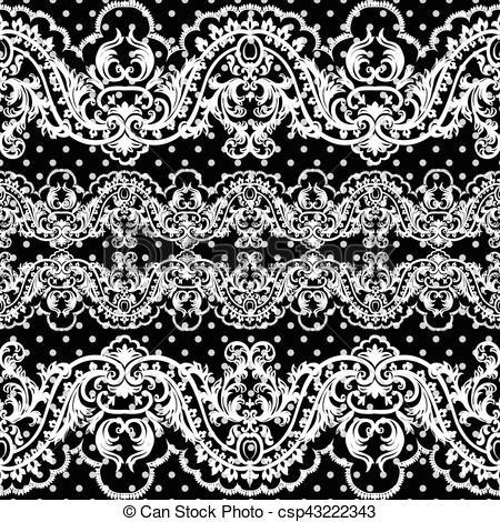 450x470 White Vintage Lace Crochet Pattern. Damask Classic Lace Pattern