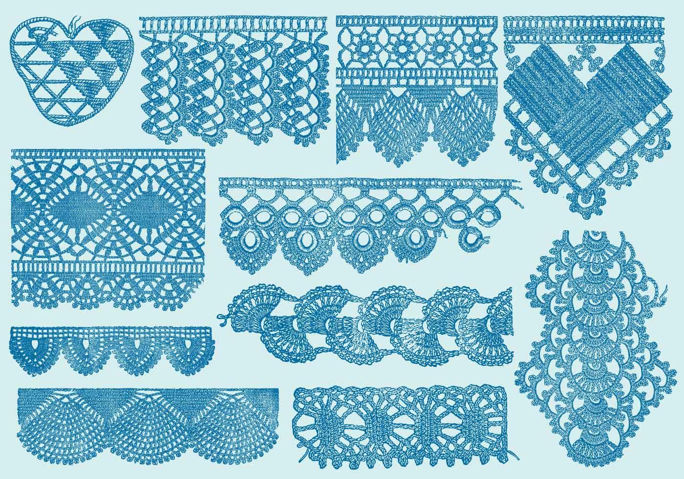 1400x980 Lace Pattern Free Vector Art