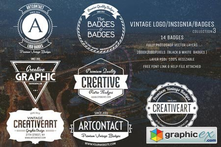 450x299 Vintage Logo Insignia Badges 3 33717 Free Download Vector Stock