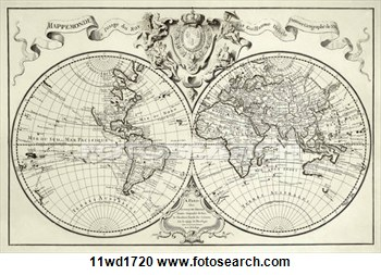 350x253 10 Vintage World Map Vector Images