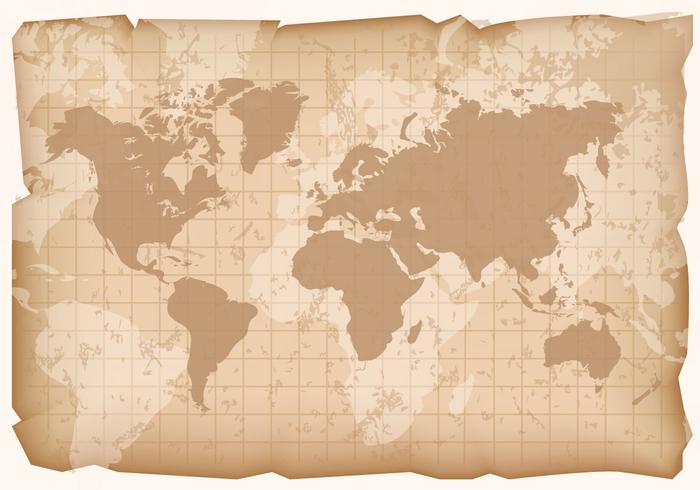 700x490 Vintage World Map Vector