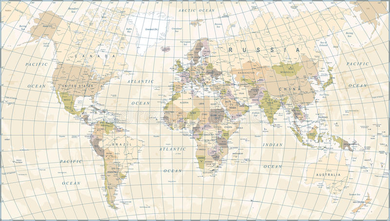 800x454 Vintage World Map Vector Vintage World Map Vector Illustration