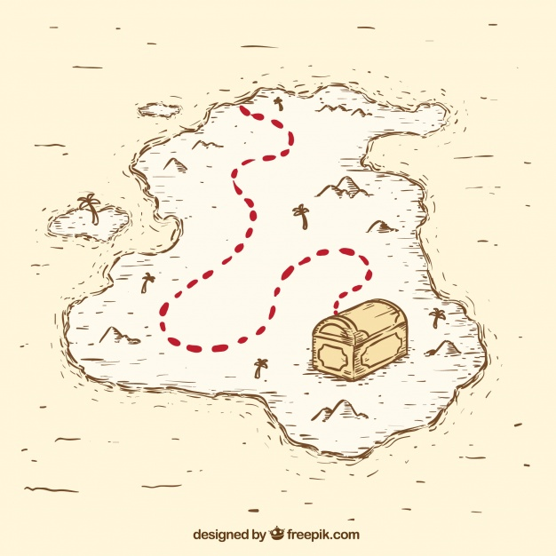 626x626 Vintage Pirate Treasure Map Vector Free Download