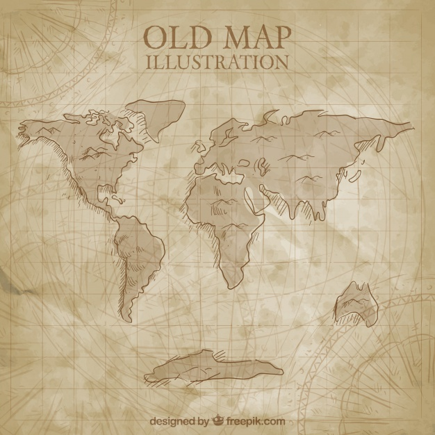 626x626 Ancient World Map Vector Free Download