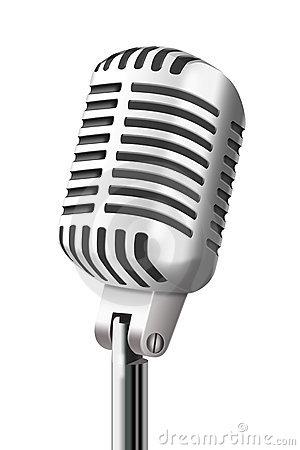 Vintage Microphone Vector Free Download
