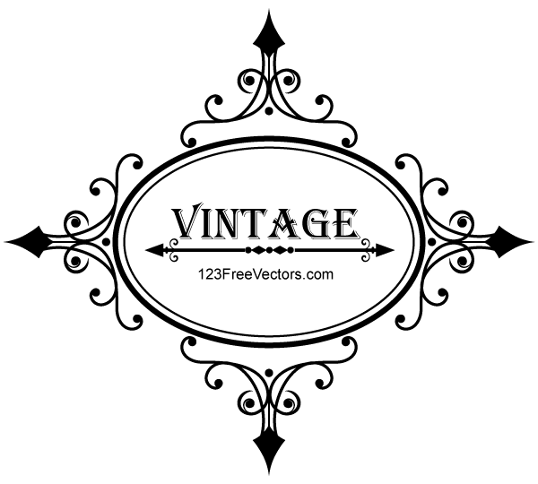 600x540 Free Decorative Oval Vintage Frame Psd Files, Vectors Amp Graphics