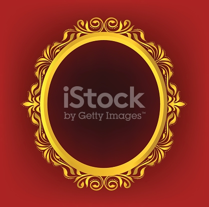 418x413 Gold Oval Frame Gold Oval Frame Floral Stock Vector Art More