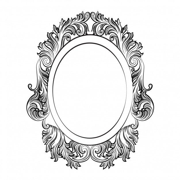 626x626 Oval Ornamental Frame Vector Free Download