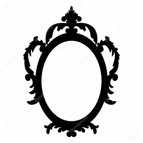 474x474 Antique Oval Frame Vector. Decorative Oval Vintage Frame