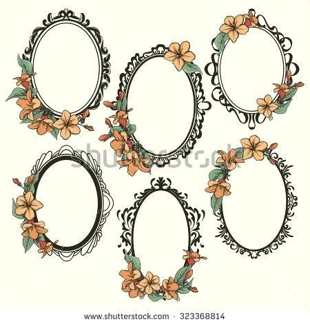 450x470 Vector Free Elegant Oval Vintage Frames Ideas Picture Antique