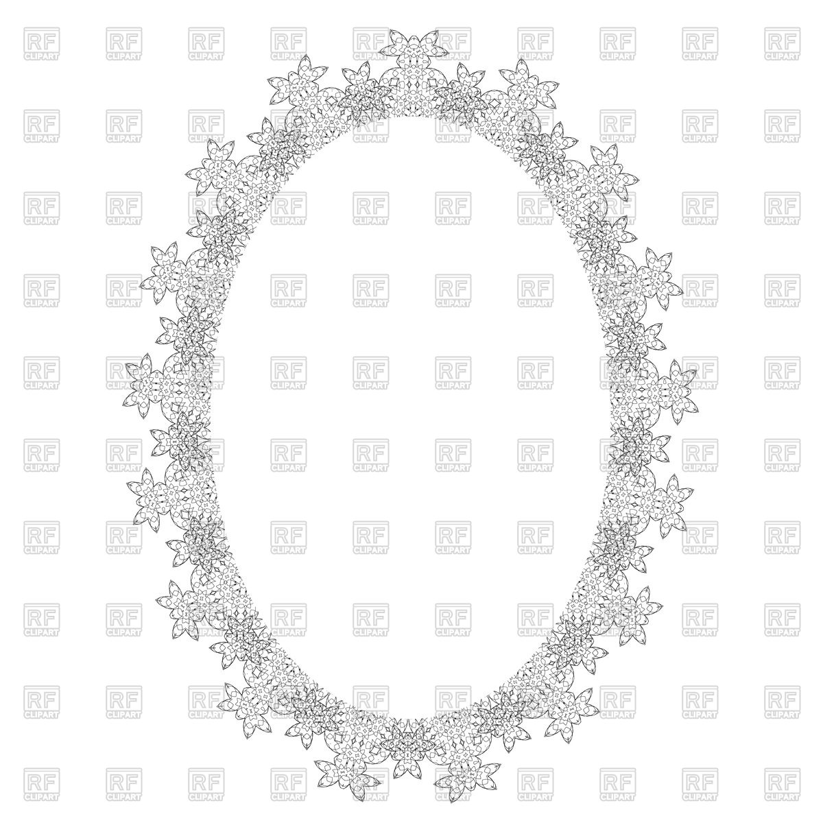 1200x1200 Vintage Oval Frame Vector Image Vector Artwork Of Borders And