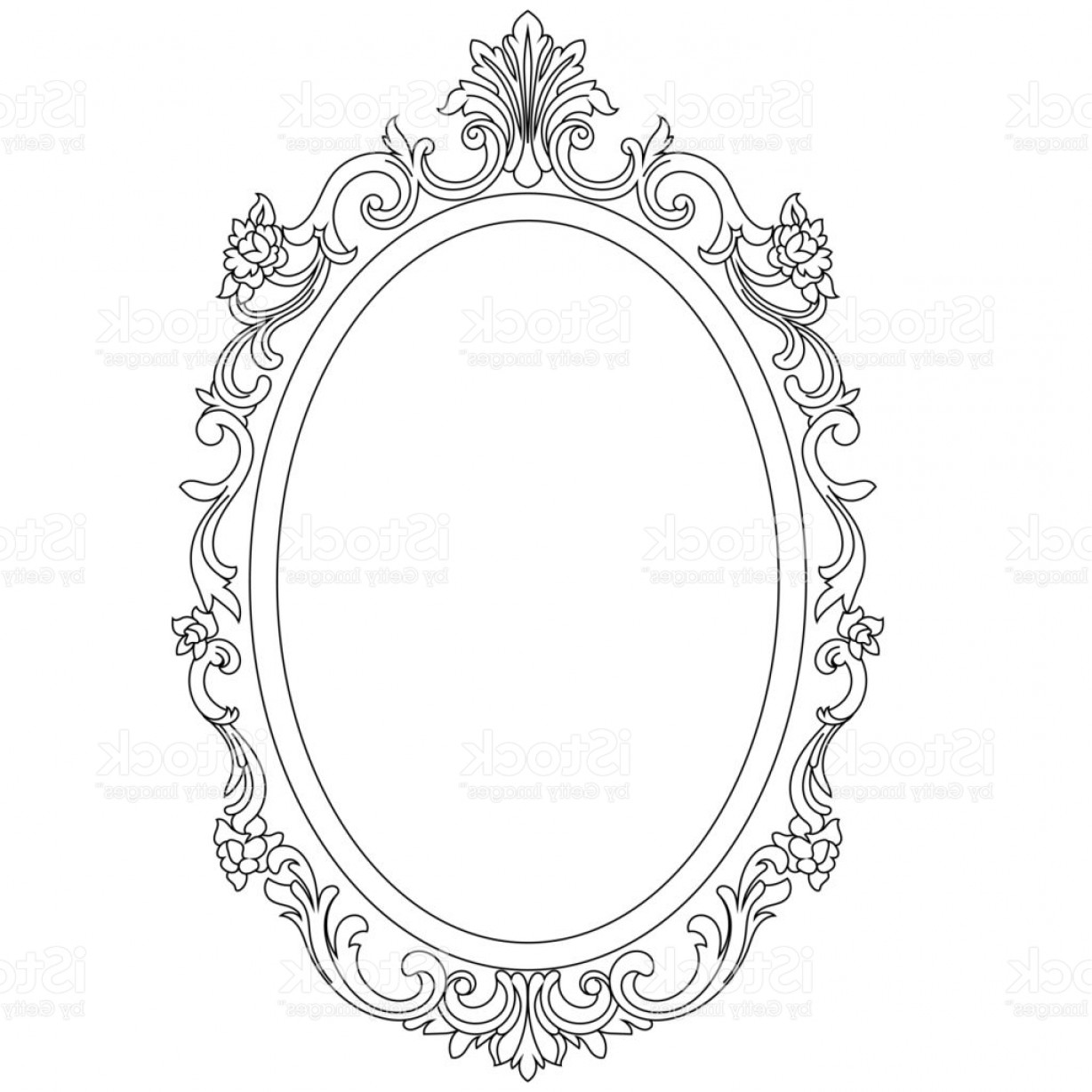 1228x1228 Vintage Oval Graphical Frame In Antique Style Vector Gm Createmepink