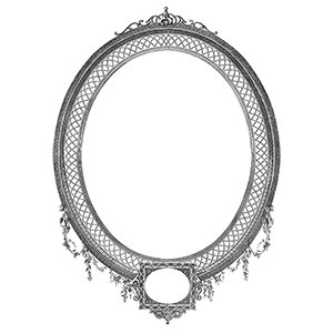 300x300 Detailed Decorative Oval Frame Vector
