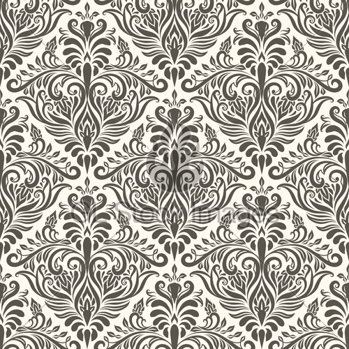 500x500 Vector Seamless Vintage Pattern Gl Stock Images