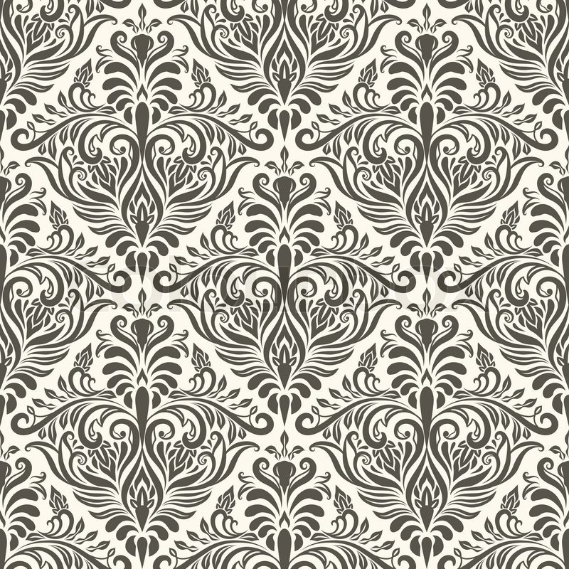800x800 Vector Seamless Vintage Pattern, Fully Editable Eps 8 File With