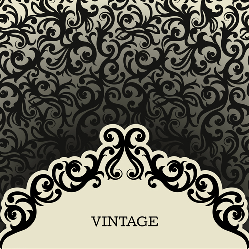 500x500 Vintage Background With Decoration Pattern Vector Free Download