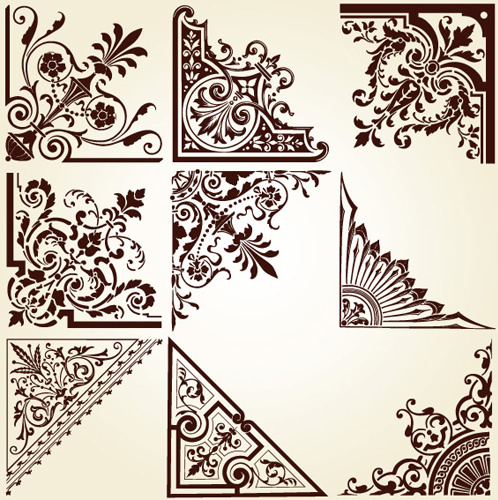 498x500 Vintage Pattern Area Borders And Ornaments Vector Free Vector In