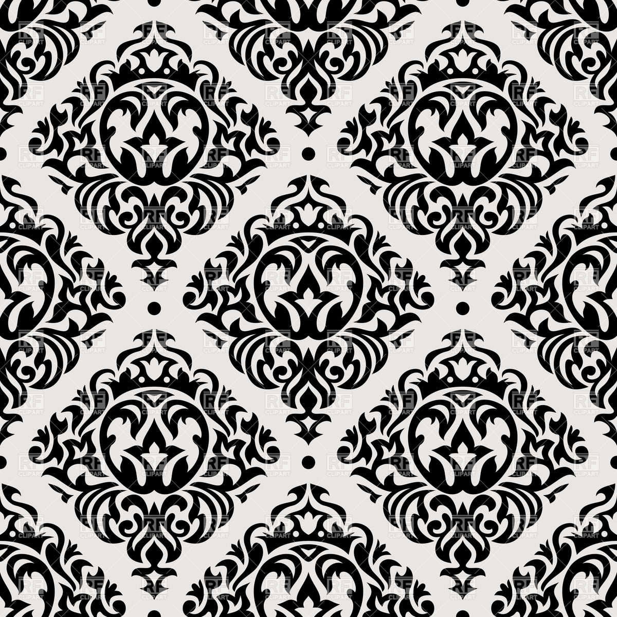 1200x1200 Vintage Seamless Pattern Vector Image Vector Artwork Of
