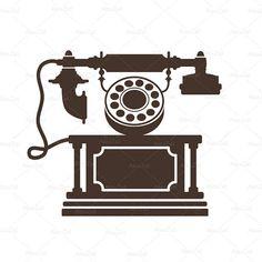 236x236 Retro Phone Clipart, Retro Svg, Silhouette Svg, Png Cuts