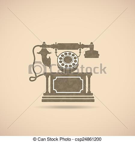 449x470 Vintage Phone. Image Of An Old Phone In Vintage Style.