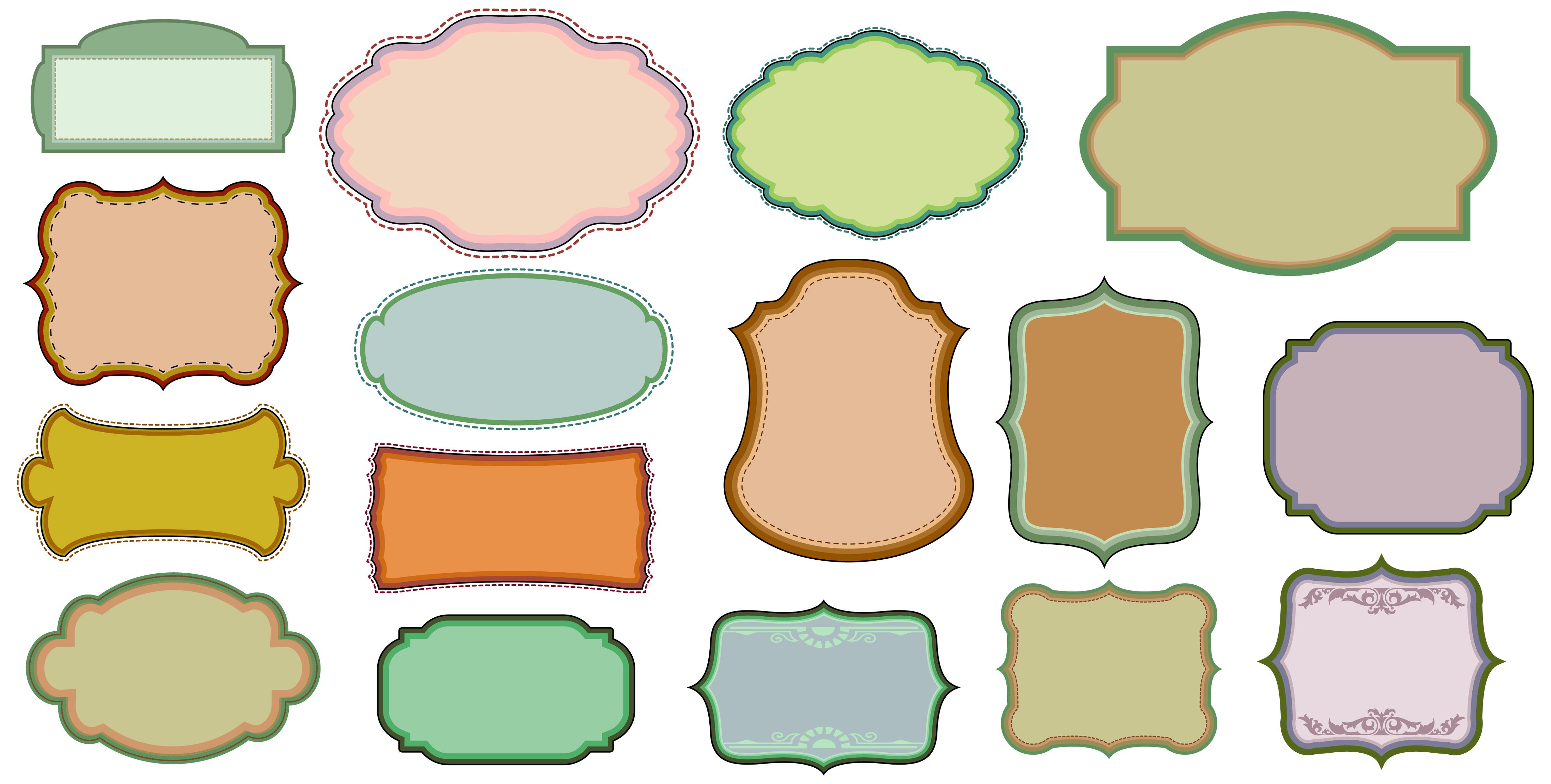 4550x2300 Free Vintage Design Frame Vector Elements