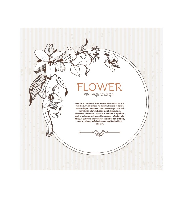 641x718 Hand Drawn Flower Vintage Frame Vector 02 Free Vectors Ui Download
