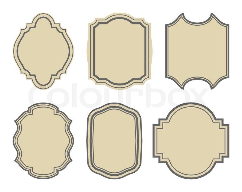 800x635 Illustration Set Of Stickers, Vintage Frames