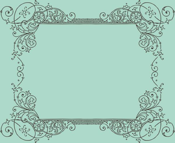 600x492 Ornate Frame Vector Free 57 Best Decorative Frames Borders Images