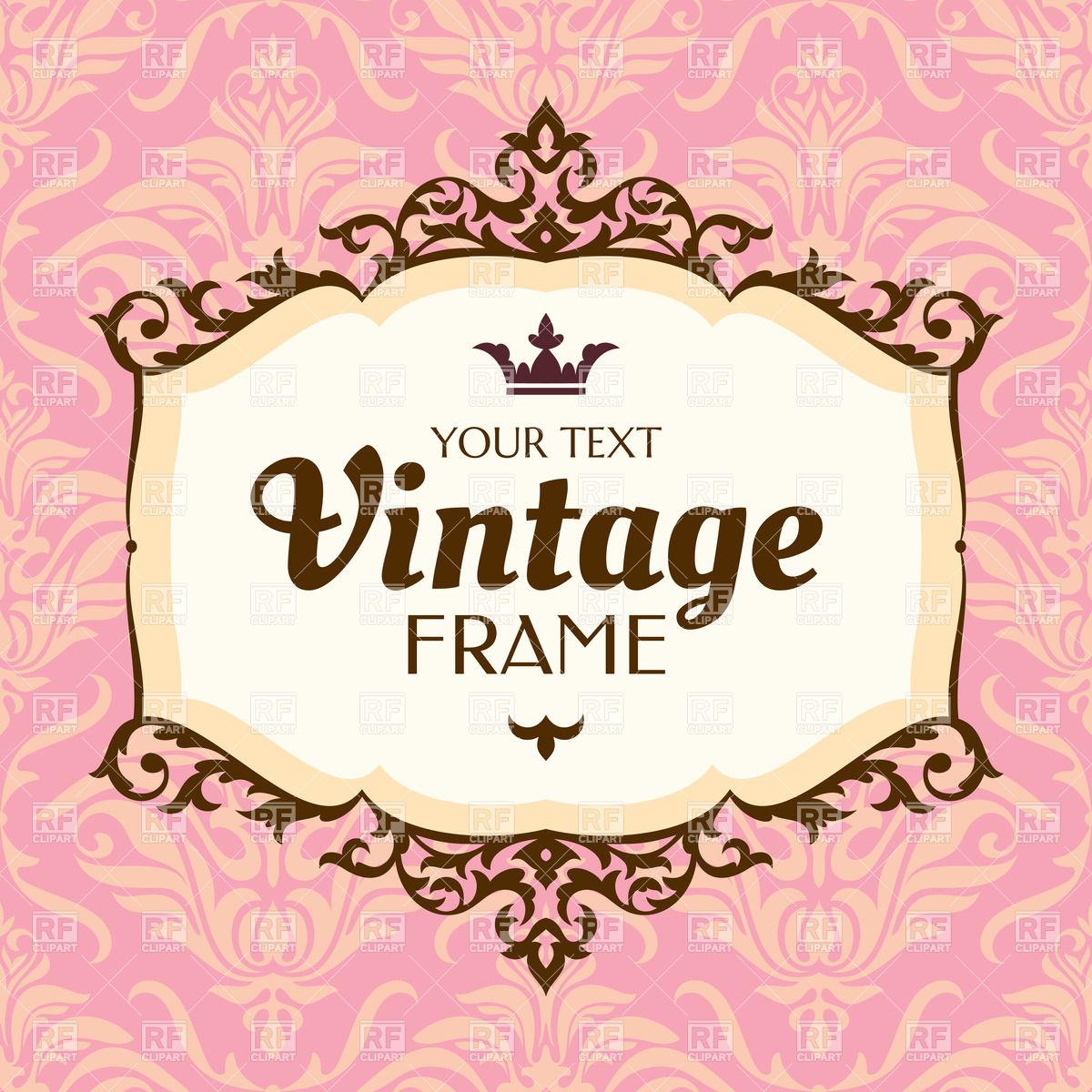 1200x1200 Pink Vintage Floral Frame Vector Image Vector Artwork Of Borders